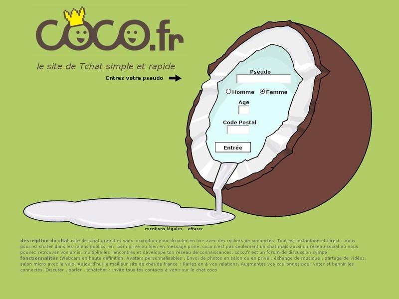 Cocoland, Le tchat coco 100% gratuit