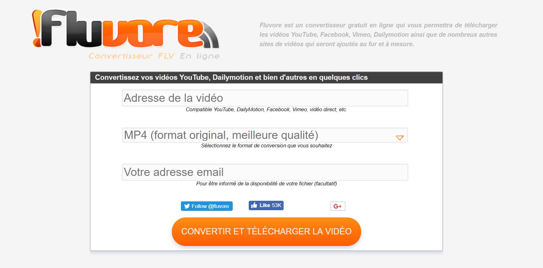 Fluvore : Transforme YouTube et DailyMotion en MP3 !