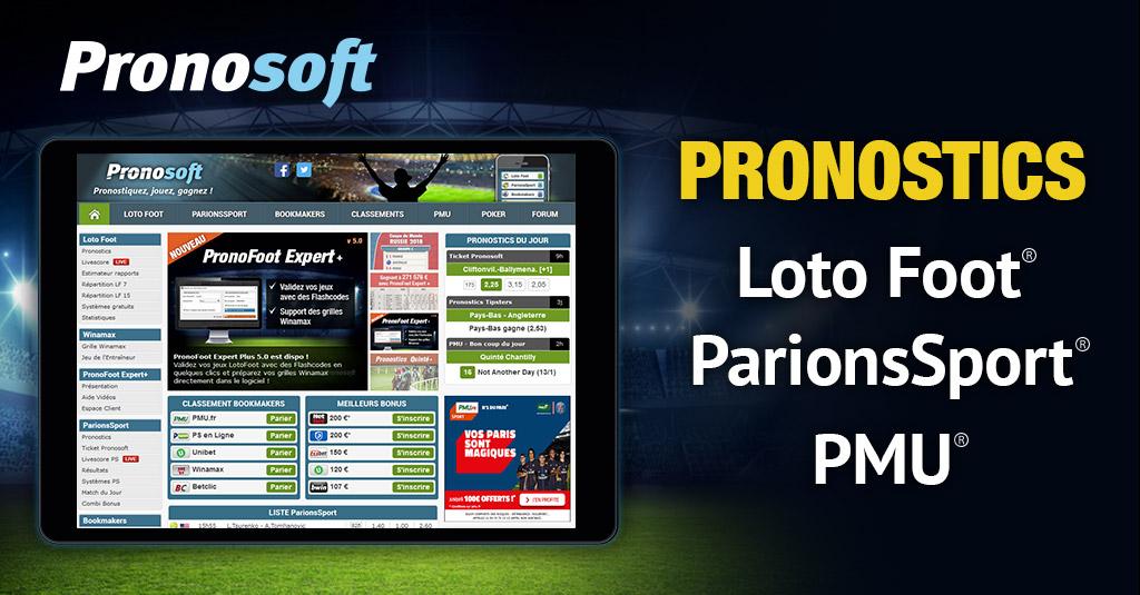 Découvrez Pronosoft dans l'App Store !