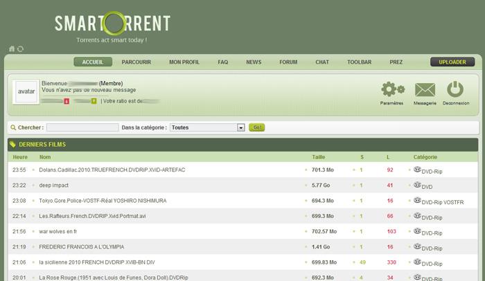Smartorrent : ENFIN un tracker de torrent francophone