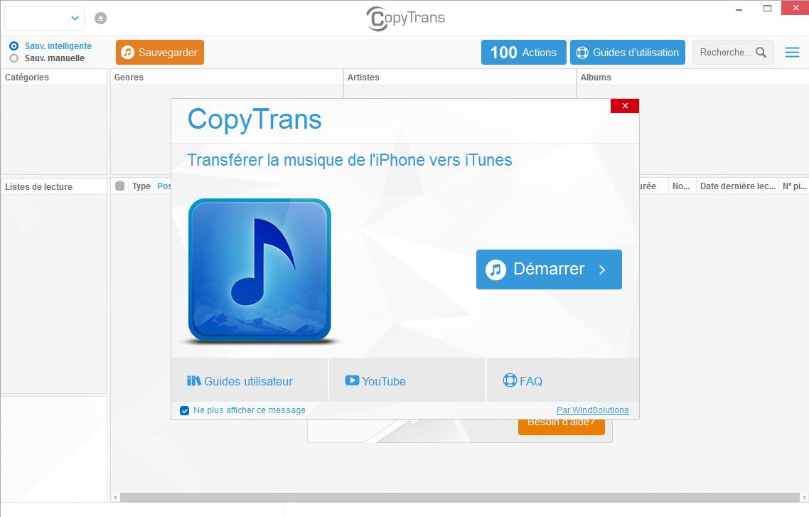 CopyTrans : Transférez tout de votre iPhone vers votre PC !