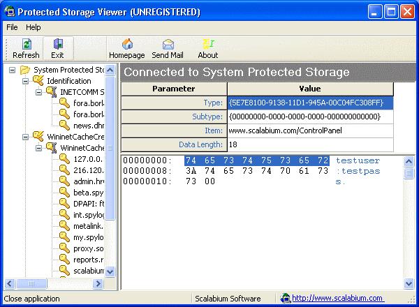 Consultez vos mots de passe avec Storage Protected PassView